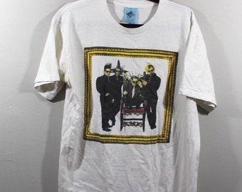 90s Weird Al Yankovic Bad Hair Tour 1996 Short Sleeve T-Shirt Shirt White Mens Large, Vintage Weird Al Yankovic Shirt, Weird Al Shirt, Mens