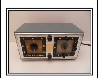 Blue Emerson Clock Radio