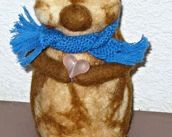 Needle Felted Chipmunk/Needle felted animal/Felted Chipmunk Animal sculpture/OOAK/Waldorf Toy/Wool Chipmunk/Cute animal/Custom Needle Cute