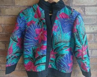 Vintage multicoloured floral jacket