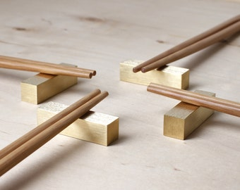 Chopstick Rests Hashioki Contemporary Home Decor Brass Home Accessories