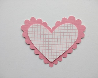 Paper Hearts - Heart Die Cuts - Heart Embellishment - Card Making - Anniversary Card - Scrapbooking - Paper Heart Cutout - Package of 10