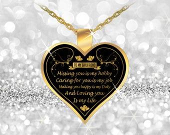 Girlfriend Necklace, Girlfriend Gift, Necklaces for Women, Girlfriend Birthday Gift, Necklace for girlfriend, girlfriend necklaces, jewelry