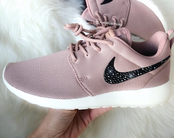 NEW Women's Nike Roshe Run Made with SWAROVSKI® Crystals - Particle Pink/Sail/Black