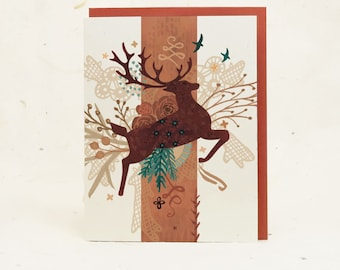 Copper Stag Eco-Friendly Greeting Card