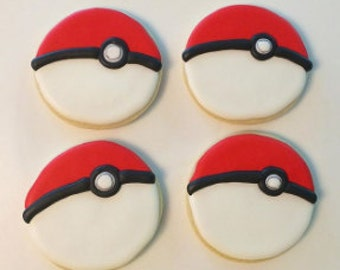 Pokemon decorated sugar cookies