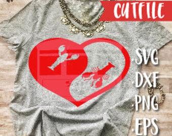 Crawfish Ying Yang Svg Cut File - Crawfish Svg Cut File - Louisiana Svg CUt FIle - Mardi Gras Svg CUt FIle - Valentines Svg Cut FIle - Love
