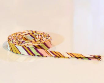 Double Fold Bias Tape Amy Butler Lotus Stripe 3 yards