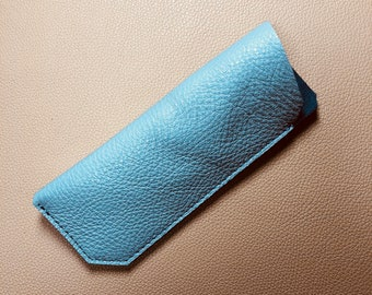 Leather Glasses Case, Spectacle Case, Sunglasses case, Eyeglass case, Sunglass Case, GREY-GREY
