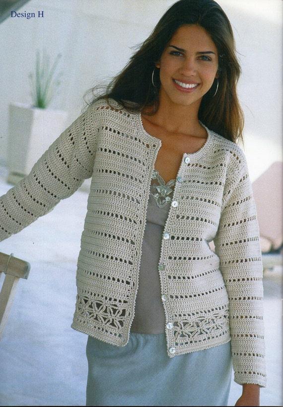 womens crochet cardigan crochet pattern lacy crochet jacket v