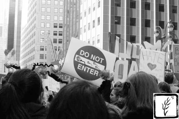 """Do Not Enter,"" New York City Women's March, 2017."