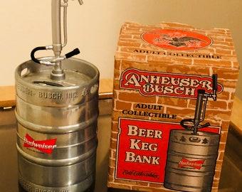 Budweiser beer keg bank
