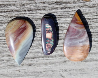 You pick - Hickoryite or wonderstone teardrop cabochons or boulder opal oval  for collecting or custom jewelry design