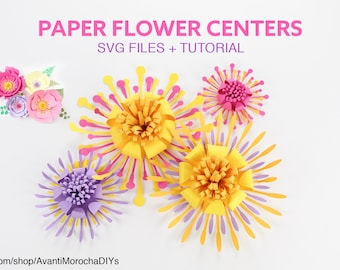 Flower Centers SVG Cut for  Giant Paper Flowers + Video Tutorial