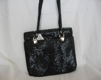 ELKA 1980's Retro Black Metal Mesh Handbag