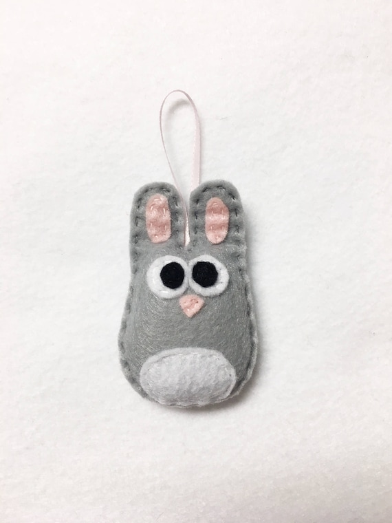 Rabbit Ornament, Baby Bunny, Rick the Baby Bunny, Christmas Ornament, Easter, Baby Shower