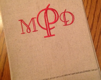 Monogrammed Linen Cotton Towel