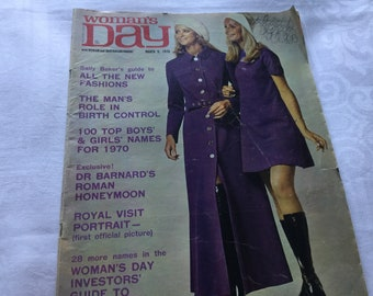Vintage Womans Day Magazine March 9 1970