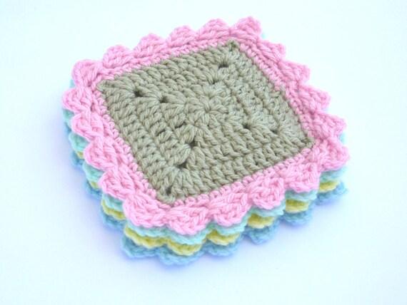 Crochet Square Coasters Pattern Crochet Coaster Pattern Crochet