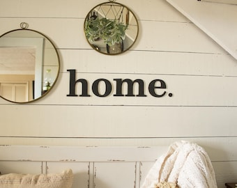 home Sign Gallery Wall Sign Farmhouse Gallery Wall Farmhouse Foyer Sign