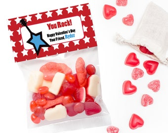 Personalized Valentine Treat Bag Topper, You Rock