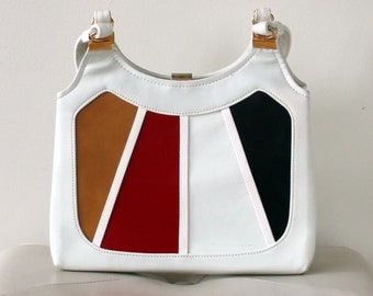 1970s Vintage Mult Colour Panel Purse