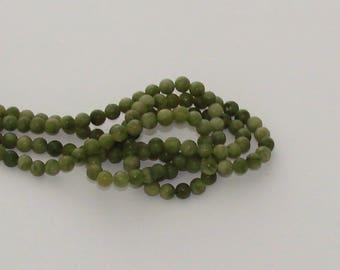 SALE - 90 beads 4mm green jade - Ref: PJ 560