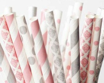 Straws Party Favors Wedding Straws Spring Table Decor Easter Favors Drinking Straws Baby Shower Favors Birthday Favors Table Utensil