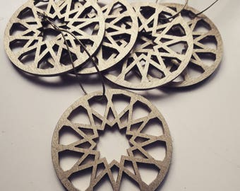 Set of 10 small oriental ornaments, moroccan, decoration for hanging, holiday, present, pendant, for bags, purses