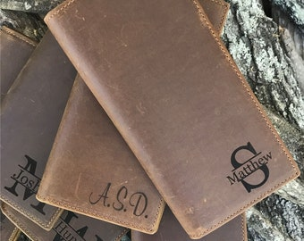 Personalized Leather wallet mens wallet personalized mens leather wallets for men father's day gift anniversary gifts, gift for men