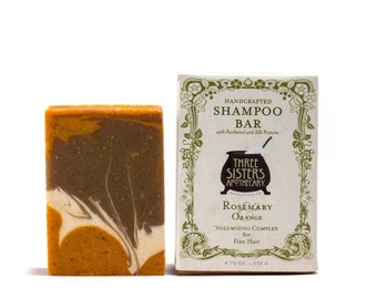Rosemary & Orange Shampoo Bar - 4.75 oz. - Volumizing Formula for Fine Hair