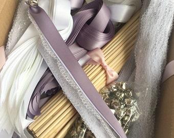 Diy wedding etsy 150 diy wedding wand kit your choice of ribbon color solutioingenieria Gallery
