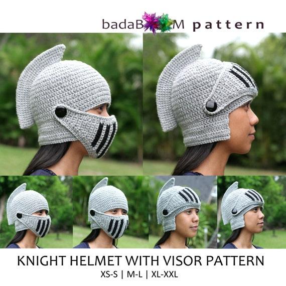 Pdf Crochet PATTERN Adult Men Woman Knight Hat RolePlay