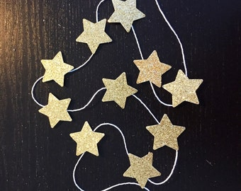 Mini Star garland by the meter (gold silver) perfect for gift wrapping or party decor