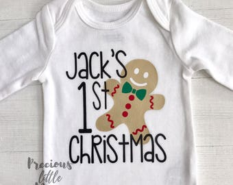 Baby Boy First Christmas Outfit, First Christmas Onesie Boy, Christmas Outfit Boy