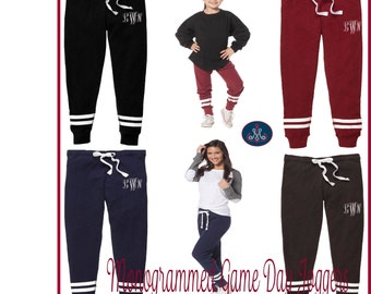 Monogrammed Joggers,Personalized Joggers,Youth joggers,Girls joggers, Childrens Joggers, Personalized Sweatpants, joggers - AA03