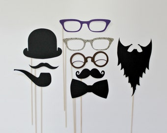 PhotoBooth Props. Party Photo Prop. Photo booth Props. Little Retreats Set of Nine