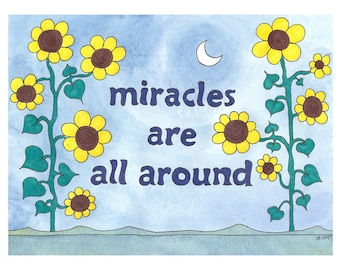 Miracles Are All Around - Message Card - 4 Card Pack