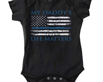 Daddy's Life New Parents Baby Shower Gifts Funny Saying Baby Romper Bodysuit