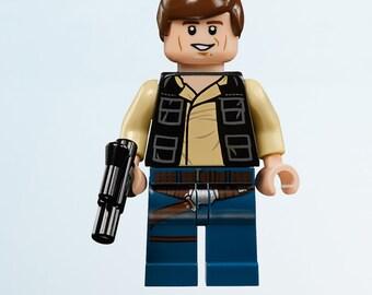 Lego Star Wars Han Solo Wall Decal Sticker Bedroom Vinyl Kids