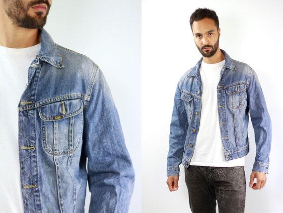 Denim Jacket LEE Jean Jacket Light Blue Jean Jacket Lee Denim Jacket 90s Jean Jacket Blue Jeans Jacket Large Denim Jacket Lee Grunge Jacket