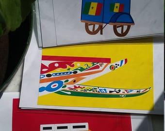 Dakar, Senegal Blank Greeting Cards