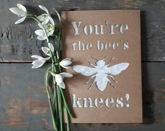Plantable Paper Teacher Appreciation Card, Thank You Card, Seeded Paper, Birthday Card, Plantable Seed Paper, Honey Bee, Seed Paper, Seeds