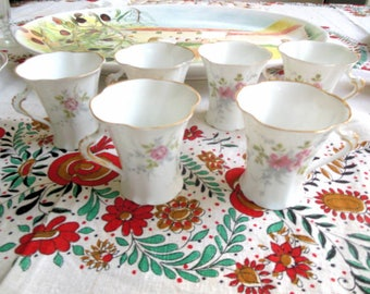 6 chocolate cups, Sevres, France, signed