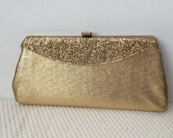 1960's gold lame evening purse