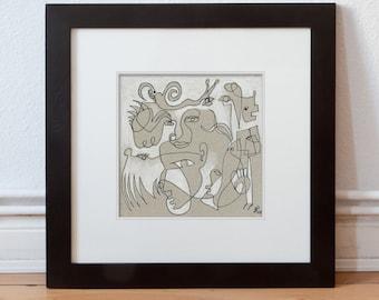Elegant original 15 x 15 cm (5.9 x 5.9 inch)