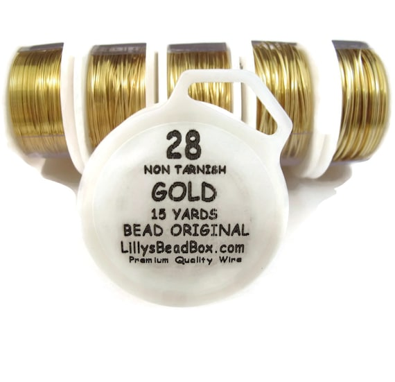 Gold Plated Wire 28 Gauge Wire for Making Jewelry Round