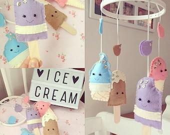 Baby mobile, ice cream!