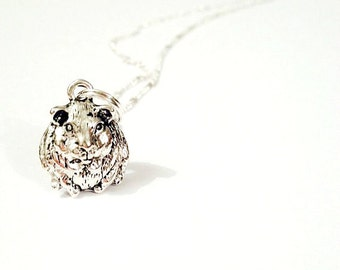 Guinea Pig charm necklace cute kitsch animal jewellery cute pet gift for teen girls for women skinny pig piggie animal necklace animal lover