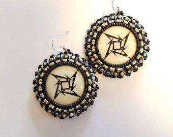 M Star Beaded Earrings